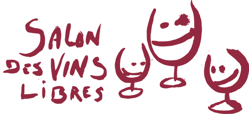 Salon des vins libres logo allongé transparent